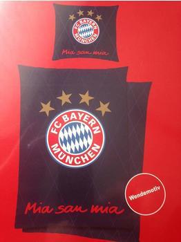 FC Bayern Renforcé-Bettwäsche blau