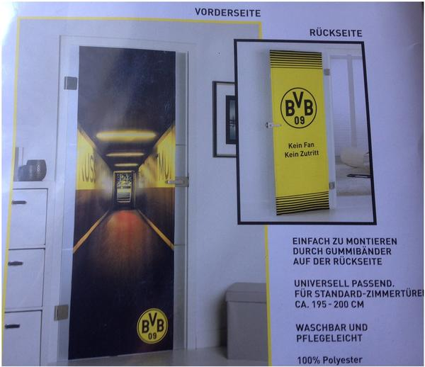 BVB Borussia Dortmund Türbezug ca. 70 cm breit