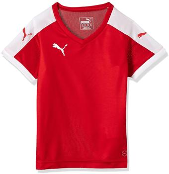Puma Pitch Shortsleeved Shirt - puma red-white [Größe: 176]