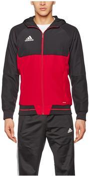 Adidas Herren Tiro17 Präsentationsjacke black/ scarlet/ white