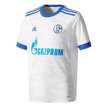 adidas FC Schalke 04 Kinder Auswärts Trikot 2017/2018 white/bold blue/clear grey Gr. 128