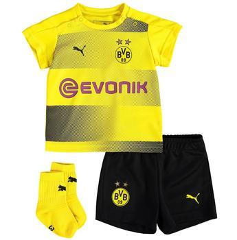 Puma Bvb Home Babykit Socks Sponsor Logo with Packaging Fußball T-Shirt, Cyber Yellow Black, 74