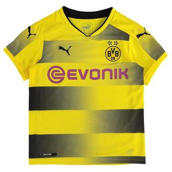 Puma Borussia Dortmund Kinder Heim Trikot 2017/2018 cyber yellow/black Gr. 140