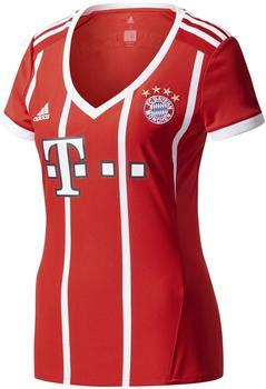 adidas FC Bayern München Damen Heim Tikot 2017/2018 fcb true red/white XS