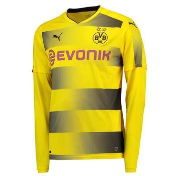 Puma Borussia Dortmund Herren Heim Trikot langarm 2017/2018 cyber yellow/black XL