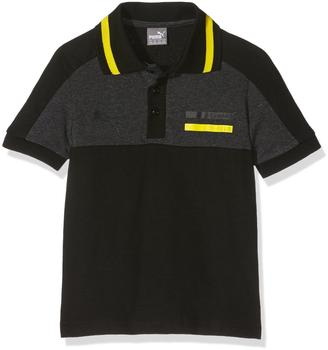 Puma Fußball BVB Borussia Dortmund Premium Polo-Shirt Kinder schwarz Gr 176