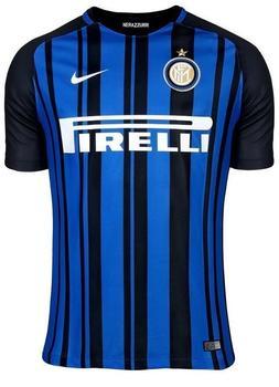 Nike Inter Mailand Herren Heim Trikot 2017/2018 schwarz/blau M