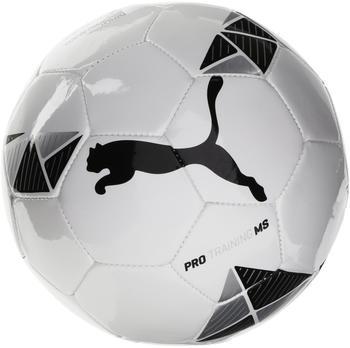 Puma Pro Training MS ball white/black/metallic silver, Größe 5