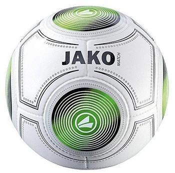 Jako Trainingsball Match Ball, weiß/schwarz/grün 5