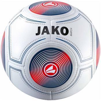 JAKO Trainingsball Match weiß/marine/flame (Größe: 5)