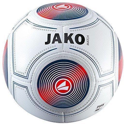 JAKO Match Spielball weiß/marine/flame