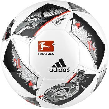 adidas Torfabrik Glider Bundesliga DFL 2016/2017 weiß/schwarz/rot, Ballgröße:3