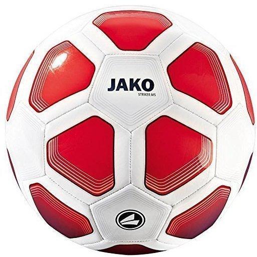 JAKO Trainingsball Striker MS weiß/rot/maroon (Größe: 3)