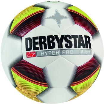 derbystar Hyper Pro S-Light (290g) Fußball weiß gelb rot 4