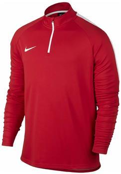Nike Dri-FIT Academy Fußballoberteil mit Kurzreißverschluss university red/white