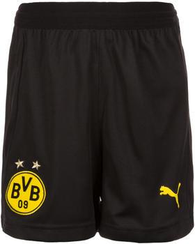 Puma Borussia Dortmund Home Shorts Replika 2018/2019 Kinder schwarz