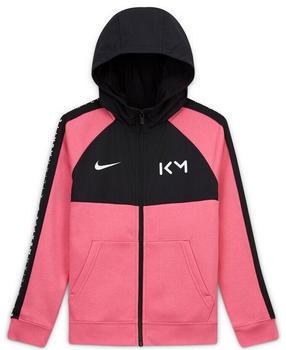 Nike Kids' Full-Zip Fleece Football Hoodie Kylian Mbappé (CK5562) pinksicle/black/white