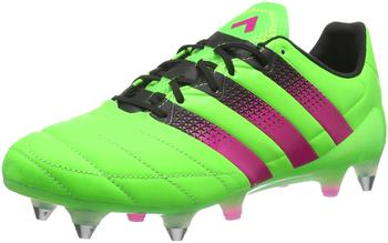 Adidas Ace 16.1 SG Men Leather solar green/shock pink/core black
