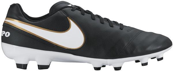 Nike Tiempo Genio II Leather FG black/white/metallic gold