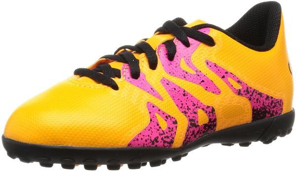 Adidas X15.4 TF J solar gold/core black/shock pink