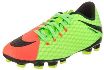Nike Hypervenom Phelon III FG Jr electric green/hyper orange/volt/black