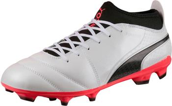 Puma ONE 17.3 FG puma white/puma black/fiery coral