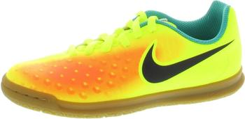 Nike MagistaX Ola II IC Jr volt/black/total orange/clear jade