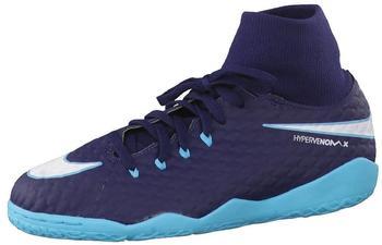 Nike HypervenomX Phelon III DF IC Jr obsidian/gamma blue/glacier blue/white