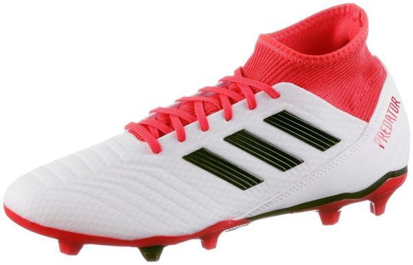 Adidas Predator 18.3 FG footwear white/core black/real coral