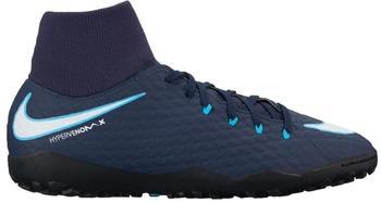 Nike HypervenomX Phelon III DF TF obsidian/white/gamma blue/glacier blue
