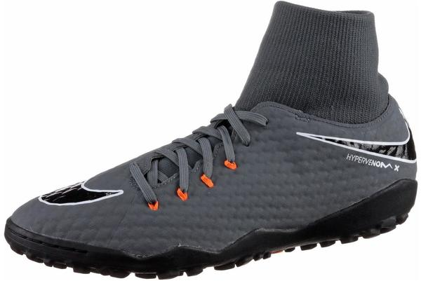 Nike HypervenomX Phantom III Academy Dynamic Fit TF dark grey/white/total orange