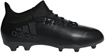 Adidas X 17.1 FG Jr core black/core black/super cyan