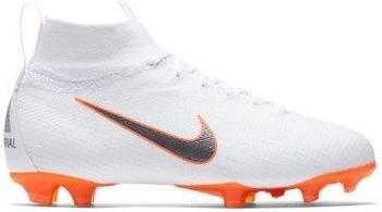 Nike Mercurial Superfly VI 360 FG Jr white/total orange/metallic cool grey/metallic cool grey
