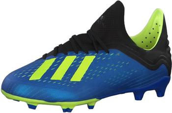 Adidas X 18.1 FG Fußballschuh Kinder football blue / solar yellow / core black