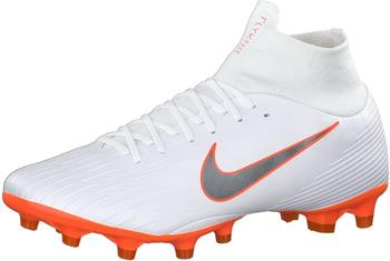Nike Mercurial Superfly VI Pro AG-PRO white/total orange/metallic cool grey/metallic cool grey