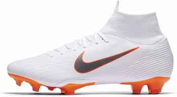 Nike Mercurial Superfly VI Pro FG white/metallic cool grey/total orange