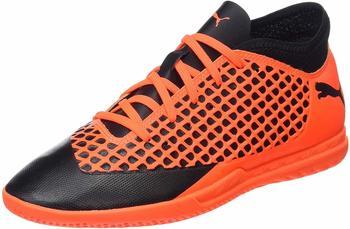 Puma Future 2.4 IT Jr (104846) black-shocking orange