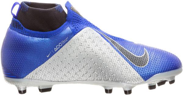 Nike Jr. Phantom Vision Elite Dynamic Fit MG racer blue/metallic silver/volt/black
