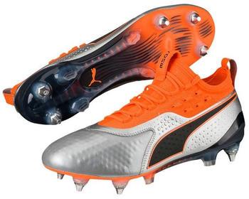 Puma ONE 1 Leather Mixed SG (104737) Silver Shocking Orange