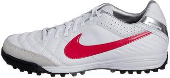 Nike Tiempo Mystic IV TF white/siren red-metallic silver