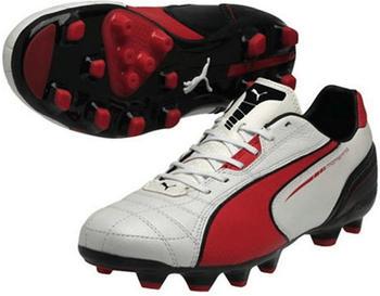 Puma Momentta MG metallic white/high risk red/black