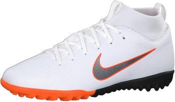 Nike Jr. MercurialX Superfly VI Academy white/total orange/metallic cool grey/metallic cool grey