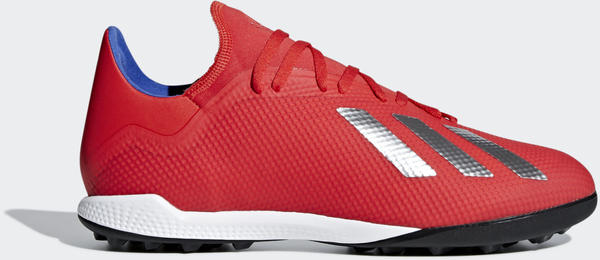 Adidas X Tango 18.3 TF Fußballschuh Active Red / Silver Met. / Bold Blue Unisex (BB9399)