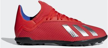 Adidas X Tango 18.3 TF Fußballschuh Active Red / Silver Met. / Bold Blue Kinder (BB9403)