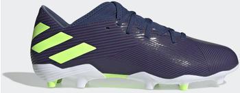 Adidas Nemeziz Messi 19.3 FG Fußballschuh Tech Indigo / Signal Green / Cloud White Männer (EF1806)