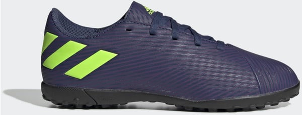 Adidas Nemeziz Messi 19.4 TF Fußballschuh Tech Indigo / Signal Green / Glory Purple Kinder (EF1818)