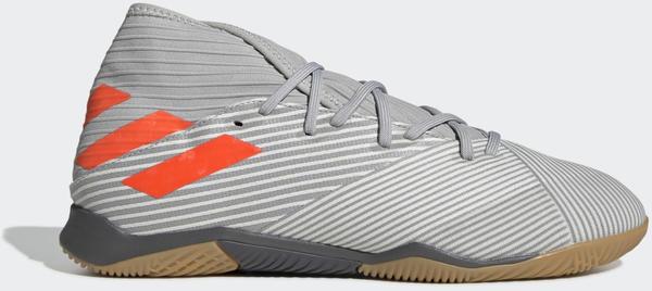 Adidas Nemeziz 19.3 IN Fußballschuh Grey Two / Solar Orange / Chalk White Unisex (EF8289)