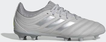 Adidas Copa 20.3 FG Fußballschuh Grey Two / Silver Met. / Solar Yellow Leder Kinder (EF8332)