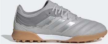 Adidas Copa 20.3 TF Fußballschuh Grey Two / Silver Met. / Solar Yellow Leder Unisex (EF8340)