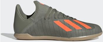 Adidas X 19.3 IN Fußballschuh Legacy Green / Solar Orange / Chalk White Kinder (EF8376)
